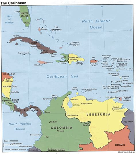 map of the caribbean islands caribbean islands political map