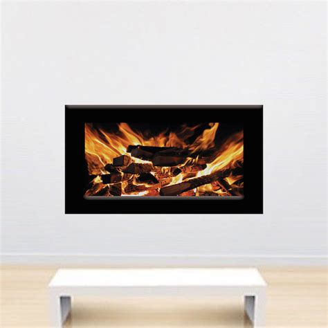 Fireplace Wall Decal by Fireplace Wallpaper Decal Fireplace Wall Sticker Living