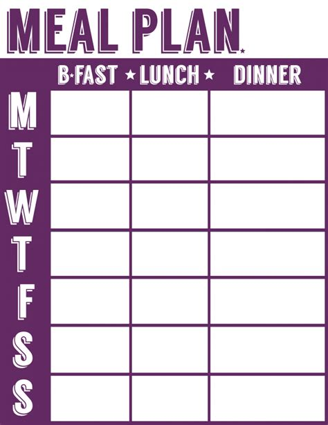 blank meal planner sheets 20 free menu planner printables welcome to the family table