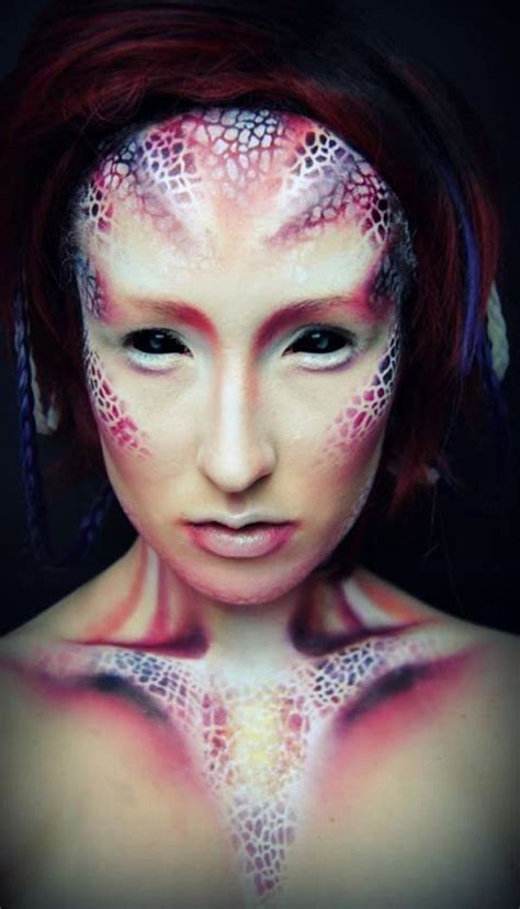 creative  colorful halloween makeup incredible snaps