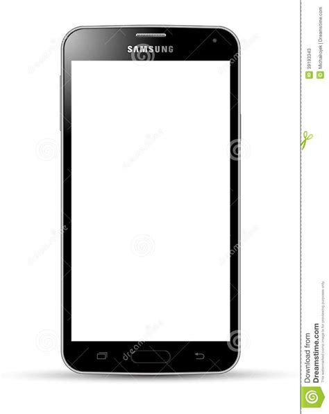 Samsung Galaxy S5 black editorial stock photo. Image of