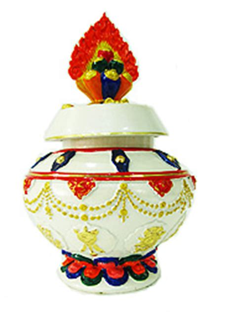 Feng Shui Wealth Vase Kit by 8 Auspicious Object Wealth Vase Kit White At Feng Shui