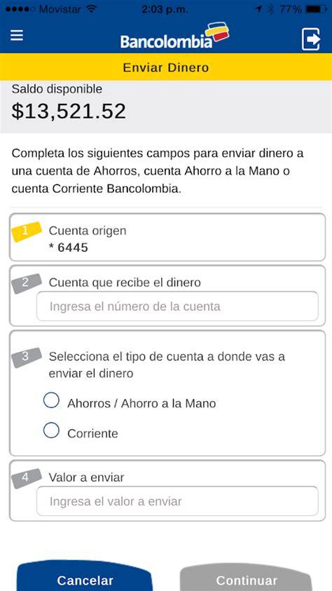 cuenta de ahorros bancolombia youtube ahorro a la mano android apps on google play
