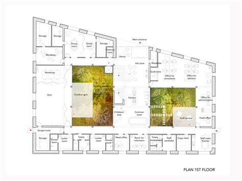 cancer center floor plan aeccafe archshowcase