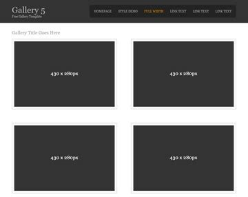 basic html5 template gallery 5 gallery templates os templates