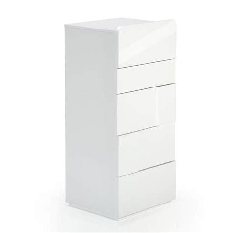 commode chiffonnier pas cher delia chiffonnier 5 tiroirs blanc laqu 233 achat vente