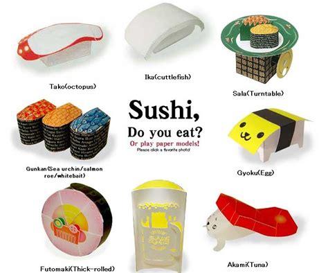 Sushi Papercraft - sushi papercraft anyone paperkraft net free
