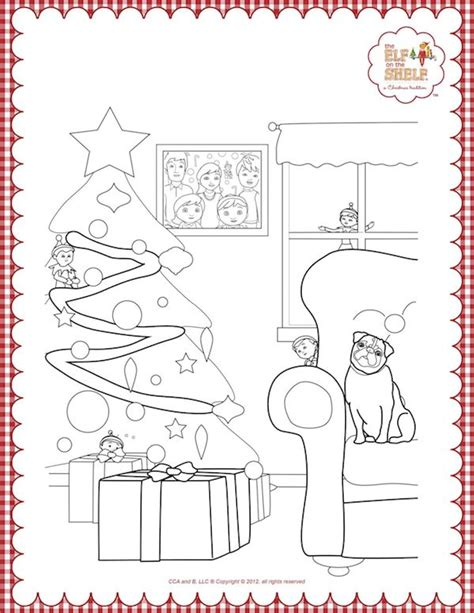 102 Best Images About Christmas Coloring Pages On On The Shelf Coloring Page Boy Free