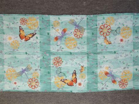 ebay quilting fabric elegant butterflies dagonflies flowers lt aqua quilting