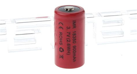 Vivan 900mah Rechargeable Li Ion Battery For V Pro1 3 01 imr18350 3 7v 900mah rechargeable li ion battery button top 2 7a discharge at fasttech