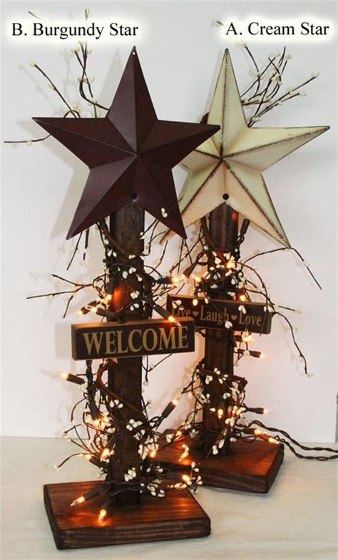 primitive country star lighted ladder decoration home decor best 25 country star decor ideas on pinterest country