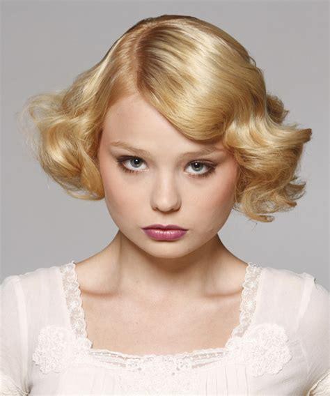 formal hairstyles bobs short wavy formal bob hairstyle light blonde golden