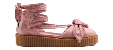 Rih Nna X Fenty Creeper Bow Lace Sandal Pink rihanna fenty bow creeper sandals releasing this may
