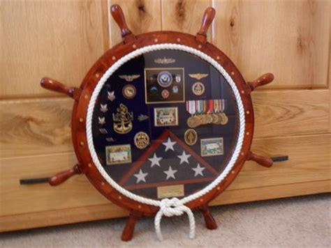 navy ships wheel shadow box  jevarn  lumberjocks