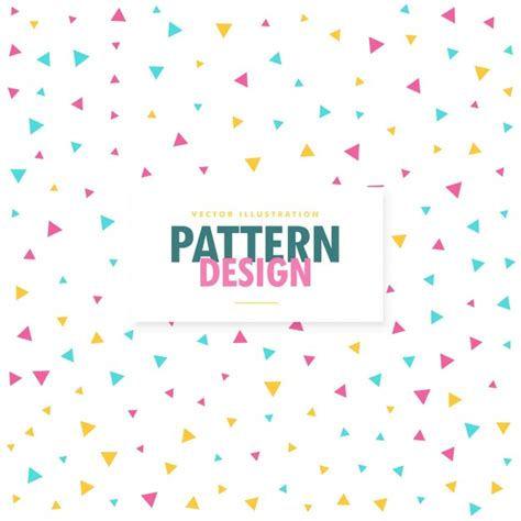 free pattern background small background of small colored triangles vector free download
