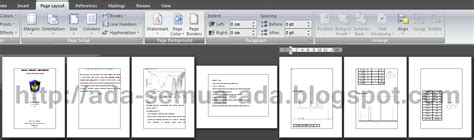 cara membuat halaman landscape di word 2007 membuat halaman landscape dan portrait dalam satu document