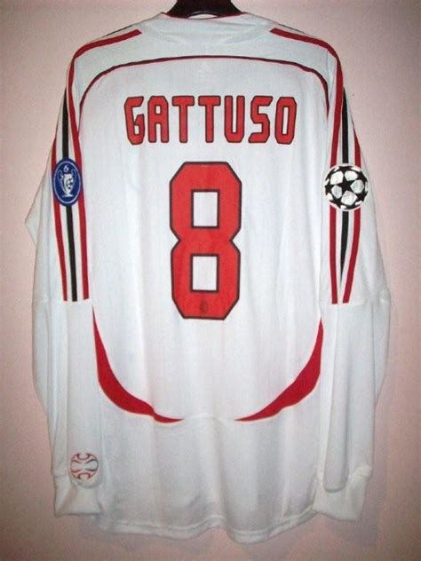 Retro Jersey Ac Milan Away 2007 ac milan cup shirt maillot de foot 2006 2007 sponsored
