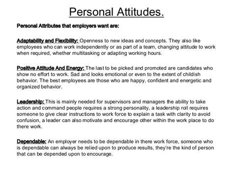attitudes attributes