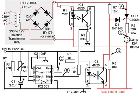scr firing circuit diagram scrs in ac circuits