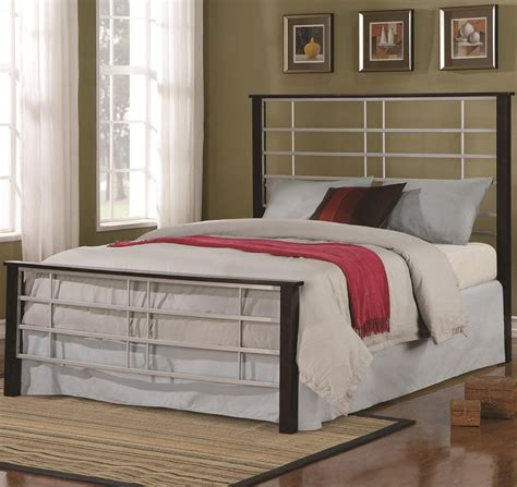 High Headboard Bed Iron Beds And Headboards Two Tone Metal Bed With High Headboard Low Profile Footboard