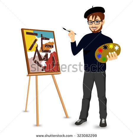 painter free portrait clipart painter painting pencil and in color