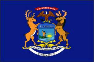 of michigan colors blue michigan state flag