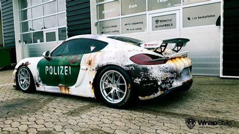 Auto Folierung Polizei by Ratlook Polizei Folierung Tuning Porsche Cayman Gt4 981 4