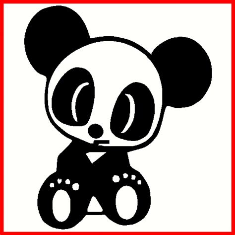 jdm panda sticker jdm drift panda decal