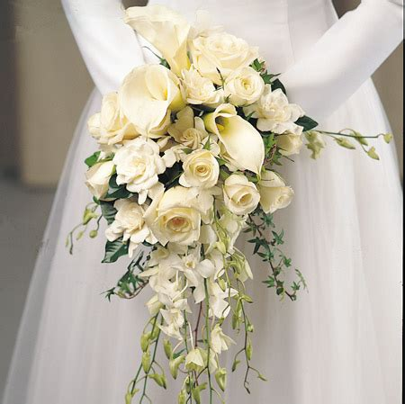 Bouquets For Wedding Bouquet Bridal White Rose And Calla Lily Bouquet
