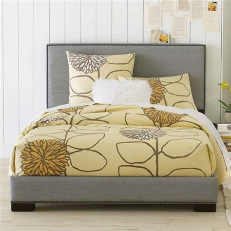Nailhead Bed Frame Nailhead Upholstered Bed Frame Is Inexpensive Elegance Tevami