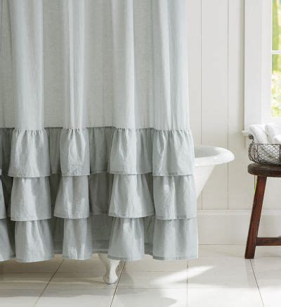 ruffle shower curtain ruffle shower curtain decor by color