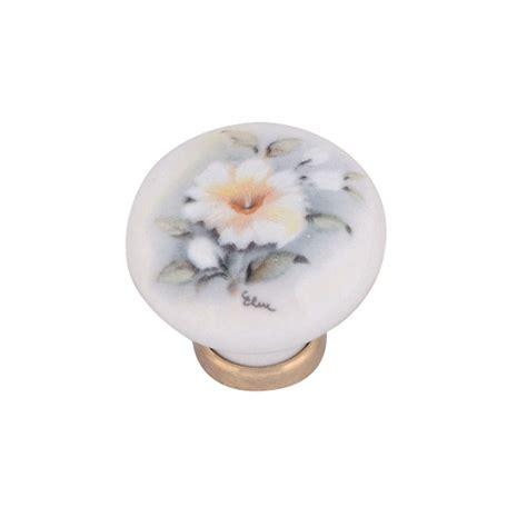 pomelli ceramica pomello in ceramica 248 31 con fiore