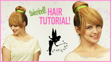 tinkerbell hairstyle easy tinker bell halloween hair tutorial with kayley