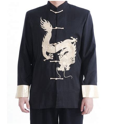 Black Back Embroidered Coat Size S M L 1 black vintage style s silk satin embroidery jacket coat with size s m l xl