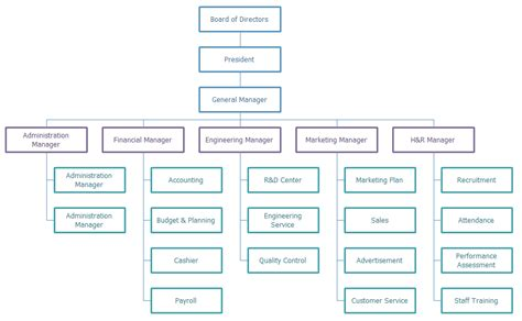 functional organizational chart project organization and