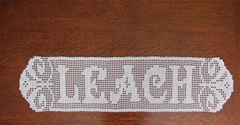 name doily pattern filet crochet name doily by tekastreasures on etsy 30 00