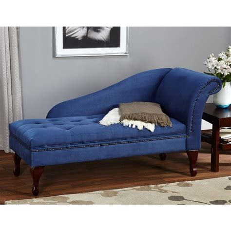 Simple Living Room Chairs Simple Living Blue Storage Chaise Free Shipping Today