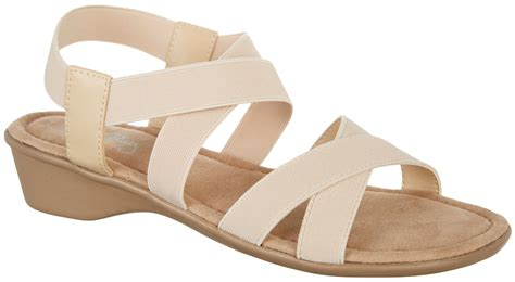 coral bay sandals coral bay womens millie strech slingback sandals