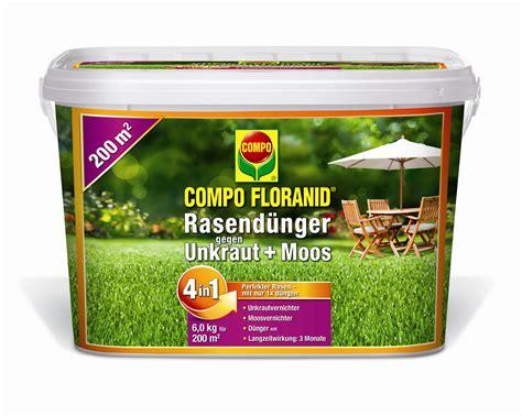 moos und unkrautvernichter compo floranid rasend 252 nger gegen moos und unkraut 4 in 1