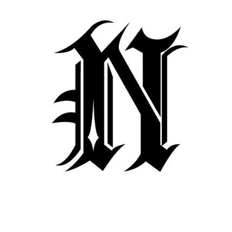 Exemple De Lettre Gothique Lettre Alphabet Gothique Tatouage