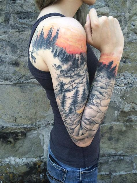 nature sleeve tattoo 25 best ideas about nature tattoos on
