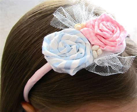 fabric crafts spring fabric flower rosette headband tutorial woo jr