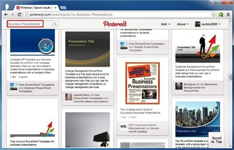 Using Pinterest To Find Free Powerpoint Templates And Business Ideas Ppt Presentation