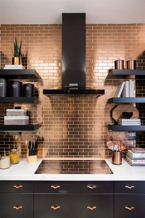 copper backsplash tiles for kitchen best 25 copper tile backsplash ideas on