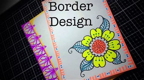 flowers assignment decoration border designs project