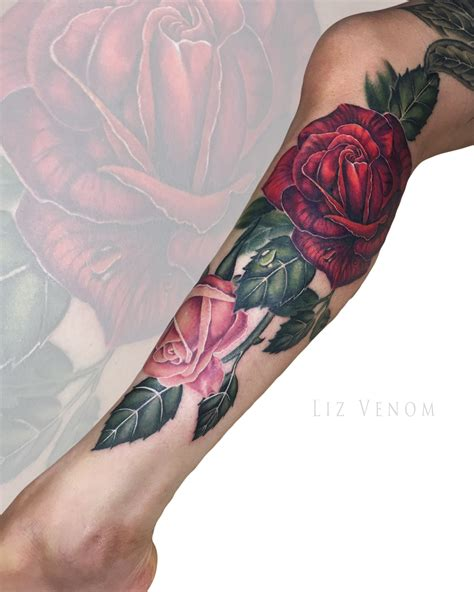 watercolor tattoo edmonton liz venom an artist with lots of flower power