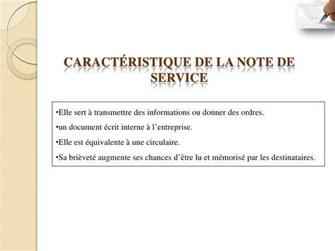 Modèle Note De Service