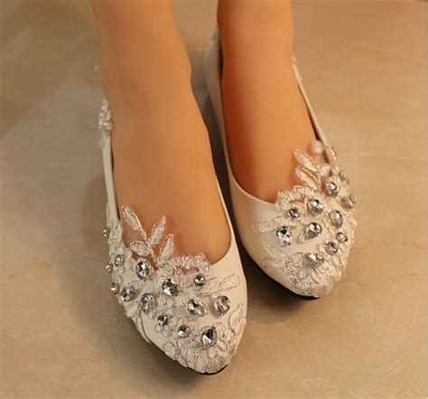 Lace Wedding Flats For by Ballet Flats Shoes Bridal Shoes Lace Bridal Flats