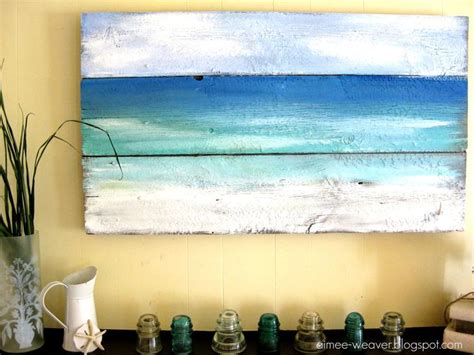 Beach Themed Wall Murals beach inspired wood barn door painting