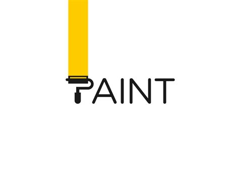 design a logo using paint paint logotype by paulius kairevicius on inspirationde